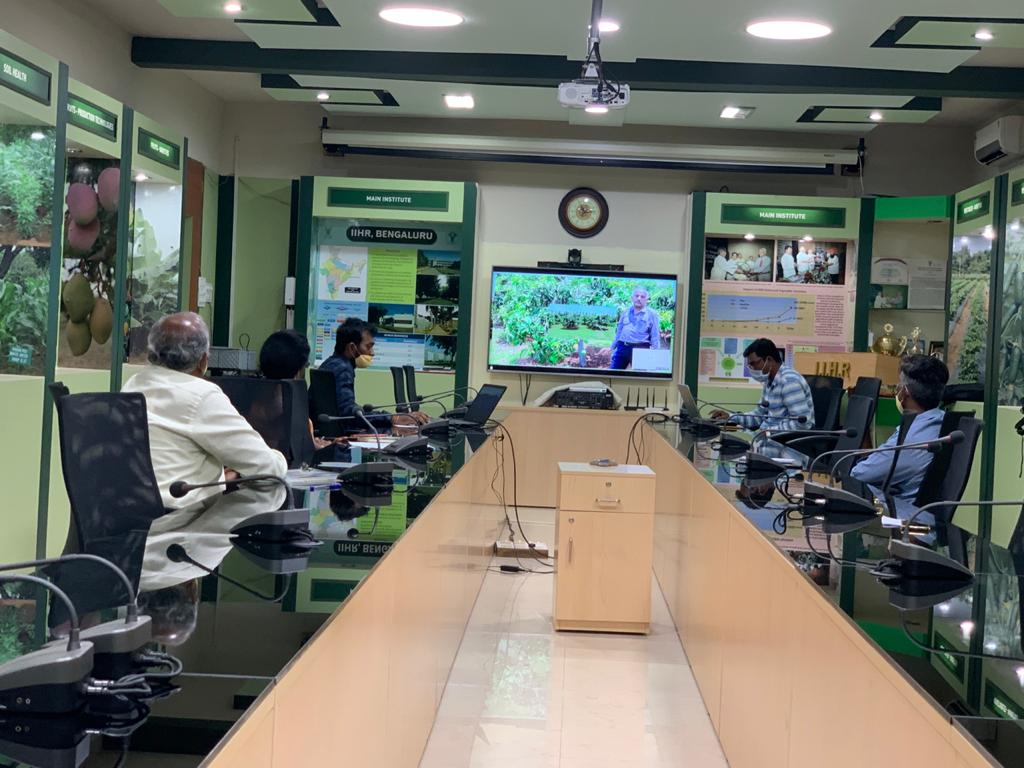 Webinar meeting on Technology Dissemination to boost horticulture sector during the post Covid convened by ICAR-IIHR and DDG (Hort. Sci.) held on 12th May, 2020